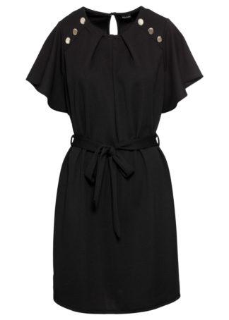 Sukienka z paskiem bonprix czarny