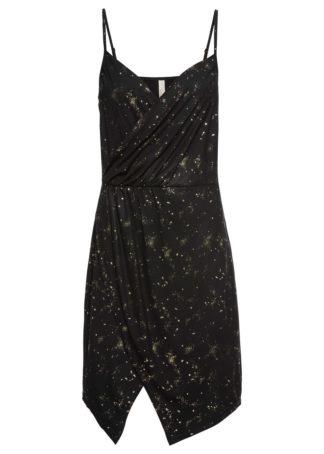 Sukienka z połyskiem bonprix czarny