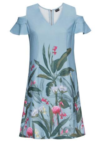 Sukienka z wycięciami bonprix mglisty niebieski