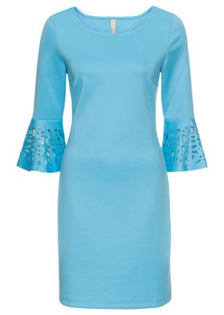 Sukienka z wycięciami bonprix jasny niebieski