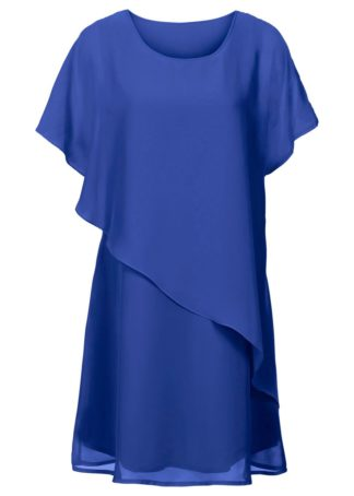 Sukienka z tkaniny bonprix ciemnoniebieski