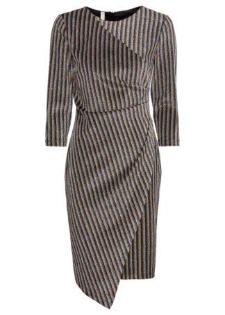 Sukienka z brokatowym połyskiem bonprix złocisto-srebrno-niebieski