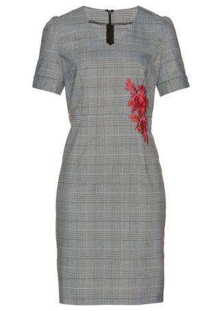 Sukienka ołówkowa bonprix czarno-biały