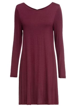 Sukienka shirtowa bonprix czerwony klonowy