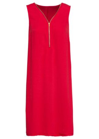 Sukienka z dżerseju z zamkiem bonprix ciemnoczerwony