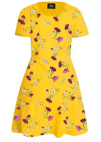 Sukienka shirtowa w kwiaty