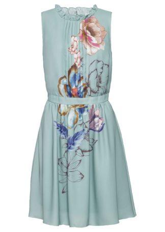 Sukienka z nadrukiem bonprix zieleń morska