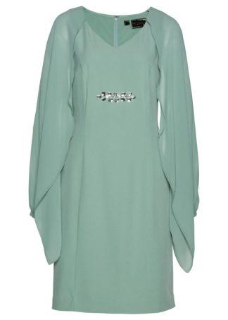 Sukienka ołówkowa bonprix zielony pastelowy