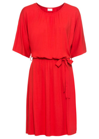 Sukienka z dżerseju bonprix truskawkowy