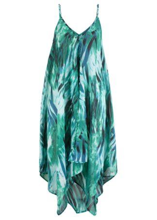 Sukienka plażowa bonprix zielono-turkusowy z nadrukiem