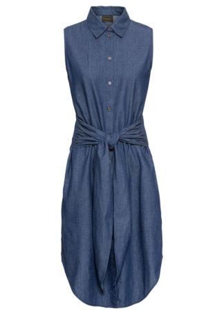 Sukienka dżinsowa bonprix ciemnoniebieski