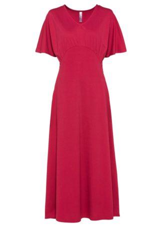 Długa sukienka bonprix czerwień granatu