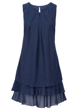 Sukienka szyfonowa bonprix ciemnoniebieski