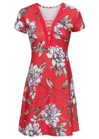 Sukienka bonprix czerwony w kwiaty