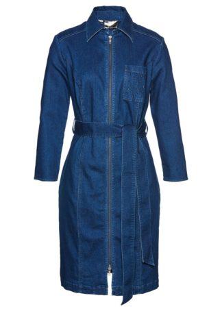 "Sukienka dżinsowa bonprix niebieski ""stone"""