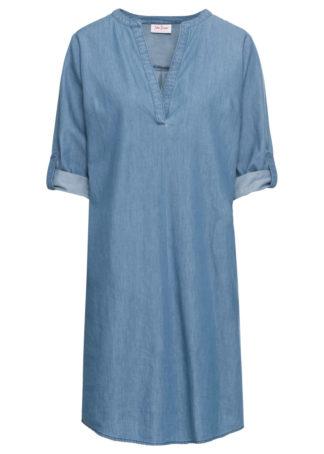 Sukienka dżinsowa bonprix średni niebieski