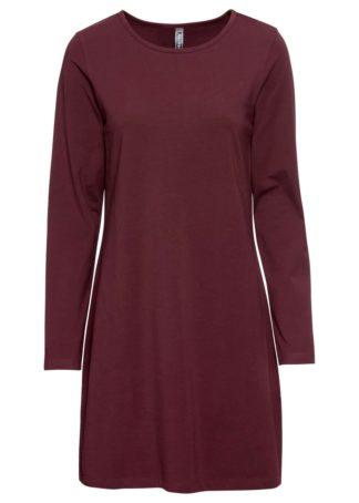 Sukienka z dżerseju bonprix czerwony klonowy
