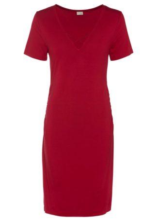 Sukienka shirtowa bonprix ciemnoczerwony