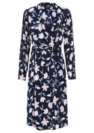 Sukienka kopertowa z nadrukiem