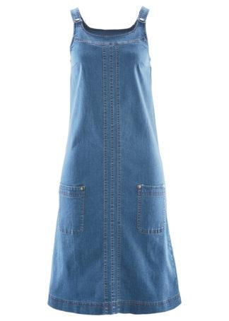 """Sukienka dżinsowa ogrodniczka bonprix niebieski """"stone"""""""