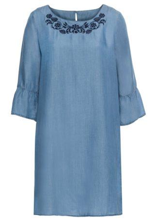 """Sukienka TENCEL™ lyocell bonprix niebieski """"bleached"""""""