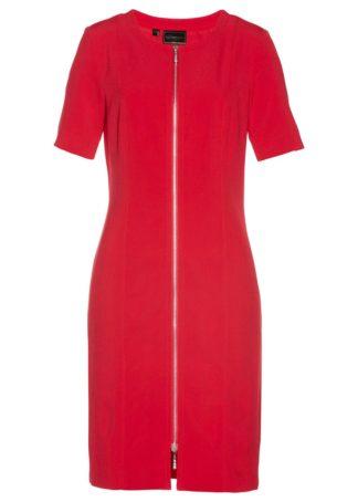 Sukienka z zamkiem bonprix czerwony