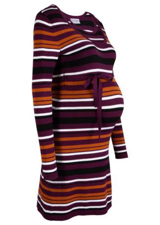 Sukienka dzianinowa ciążowa i do karmienia piersią