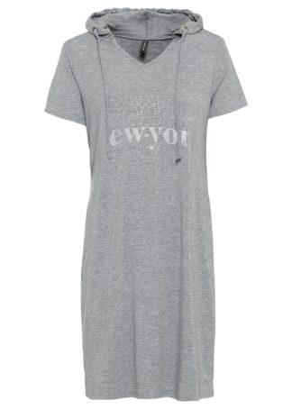 Sukienka shirtowa bonprix antracytowy melanż