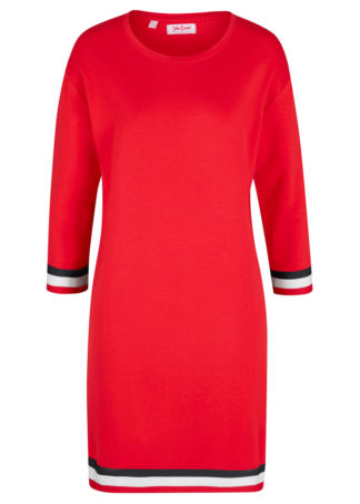 Sukienka dresowa bonprix truskawkowy