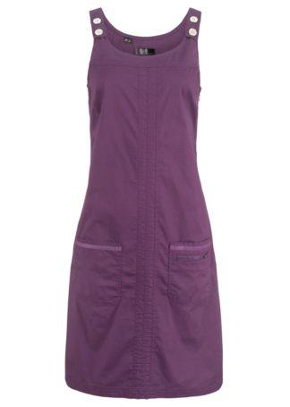 "Sukienka ze stretchem ""papertouch"" bonprix jagodowy"