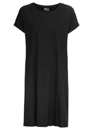 Sukienka shirtowa bonprix czarny