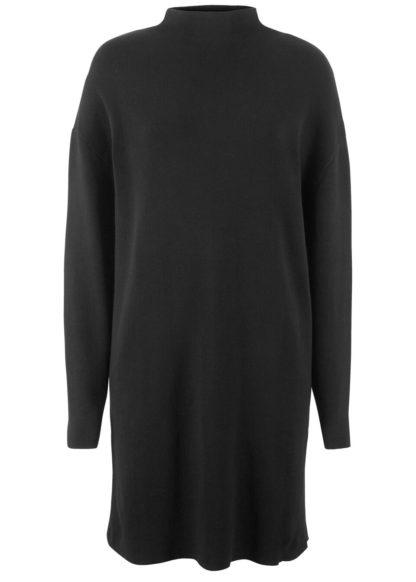 Sukienka dzianinowa ze stójką bonprix czarny