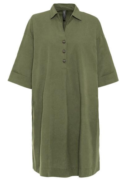 Sukienka szmizjerka bonprix zielony lodenowy