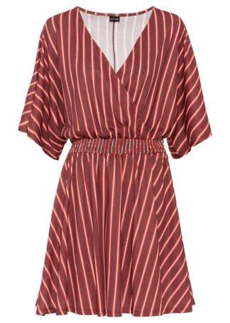 Sukienka bonprix czerwono-jasnoróżowy w paski