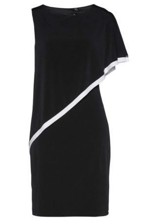 Sukienka bonprix czarno-biały