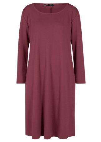 Sukienka z dżerseju Punto di Roma z kieszeniami bonprix czerwony klonowy