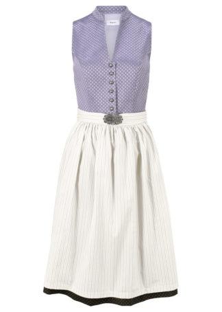Wygodna sukienka w ludowym stylu bonprix dymny lila