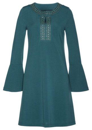 Sukienka shirtowa bonprix zielony pieprz