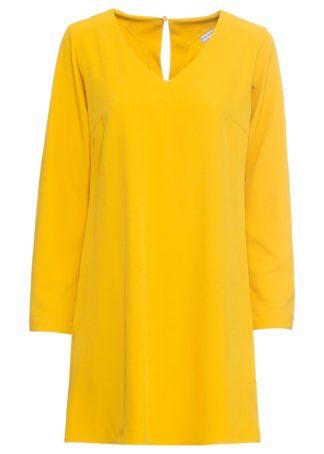 Sukienka szmizjerka bonprix żółty curry