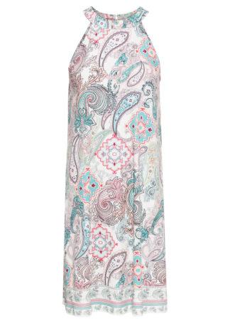 Sukienka z dżerseju z nadrukiem bonprix jasnoniebieski - paisley