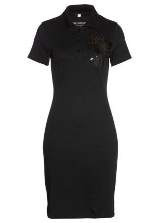Sukienka shirtowa polo bonprix czarny