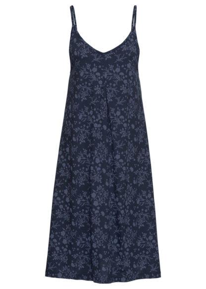 Sukienka shirtowa z nadrukiem bonprix indygo