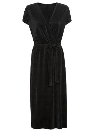Sukienka shirtowa plisowana bonprix czarny