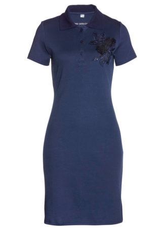 Sukienka shirtowa polo bonprix ciemnoniebieski