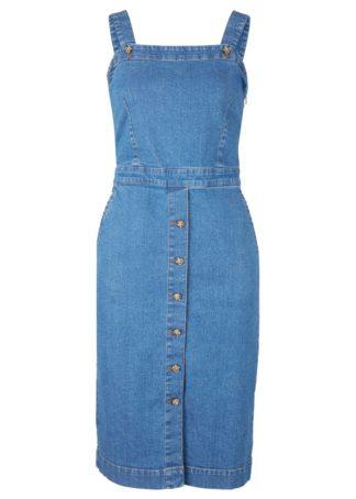 Sukienka dżinsowa ze stretchem bonprix jasnoniebieski