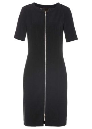 Sukienka z zamkiem bonprix czarny