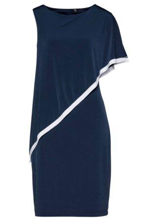 Sukienka bonprix ciemnoniebiesko-biały