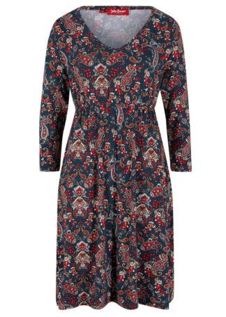 "Sukienka shirtowa z nadrukiem bonprix ciemnoniebieski ""paisley"""