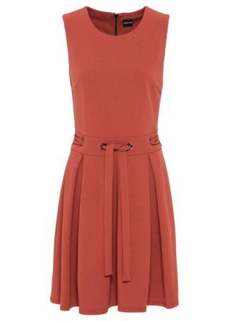 Sukienka z dżerseju bonprix brązowy marsala