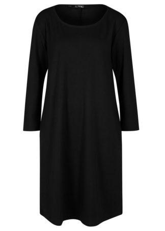 Sukienka z dżerseju Punto di Roma z kieszeniami bonprix czarny